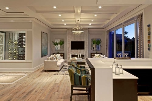 Beach style living room